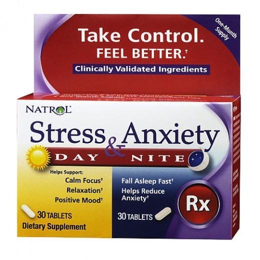 Stress e Ansiedade Fórmula (Dia e Noite) Natrol
