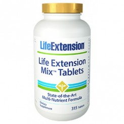 Mix Tablets (Nutrição Concentrado de Vegetais e Frutas) Life Extension