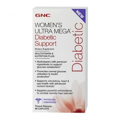GNC Women's Ultra Mega Diabetics (Multivitamínico p/ Mulheres com Diabetes)