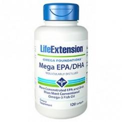 Mega EPA/DHA (Ômega-3) Life Extension