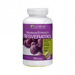 Resveratrol 250mg + Extrato de Vinho Tinto 10mg Trunature (Antioxidante)