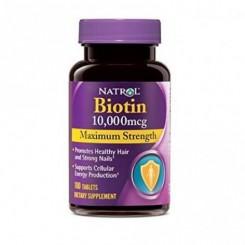 Biotina 10.000mcg Natrol (Queda de Cabelo)