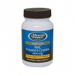 N-Acetil-Cisteína/NAC 600mg (Antioxidante) Vitamin Shoppe